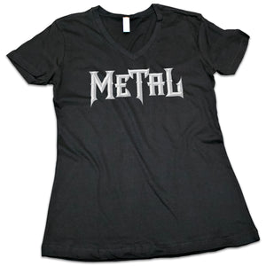 "Women's ""METAL"" V-Neck Shirt"