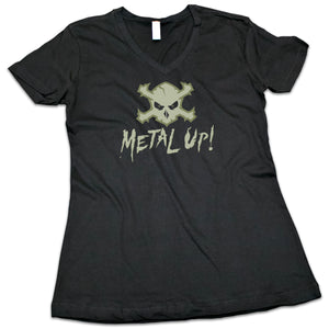 "Women's ""Metal Up!"" (Camo Green) V-Neck Shirt"