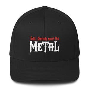 """Eat, Drink and Be Metal"" Structured Twill Cap"