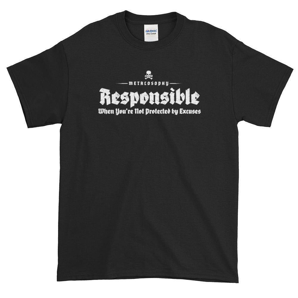 "Metalosophy ""Responsible"" Short-Sleeve T-Shirt (4X, 5X)"