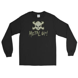 Metal Up! Long-Sleeve T-Shirt (Military Green Logo)