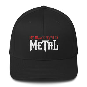 """My Blood Type is Metal"" Structured Twill Cap"