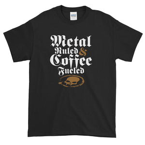 Metal-Ruled & Coffee Fueled Short-Sleeve T-Shirt (4X, 5X)