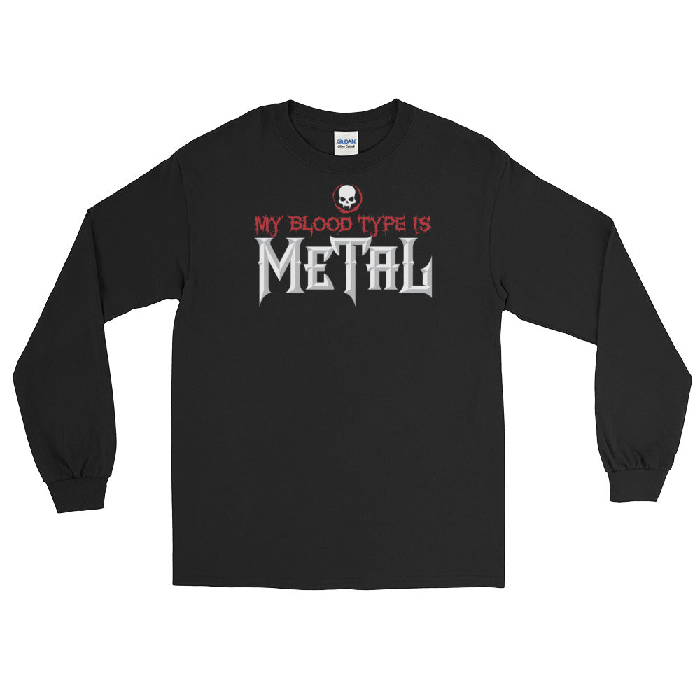 My Blood Type is Metal Long-Sleeve T-Shirt