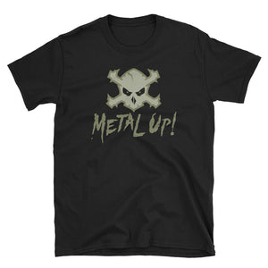 Metal Up! T-Shirt (Military Green Logo)