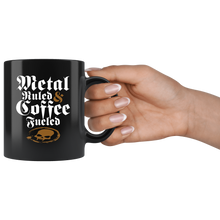 Metal Ruled & Coffee Fueled Mug