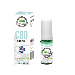 CANNAPRESSO STRAW-MELON 10ML 100MG CBD VAPE OIL