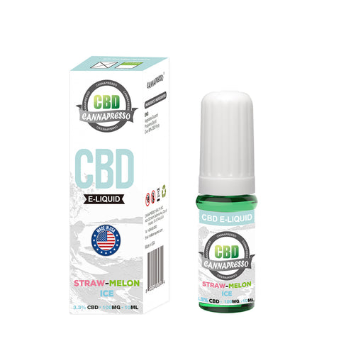 Cannapresso CBD Vape Eliquid | Full Spectrum | 10ml | Strawberry Watermelon Ice | 100mg 300mg 500mg 1000mg