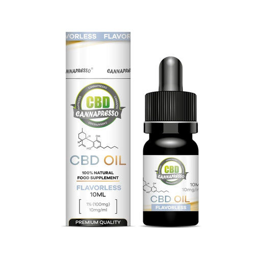 Cannapresso CBD Oil Tincture | Full Spectrum | 10ml | Flavourless | 100mg