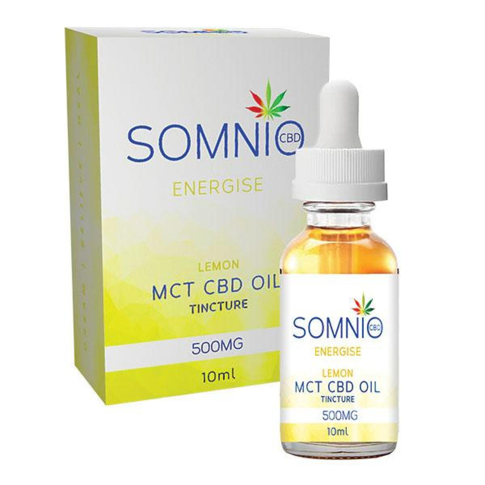 Somnio Energise MCT CBD Oil Tincture: Lemon 500mg 10ml