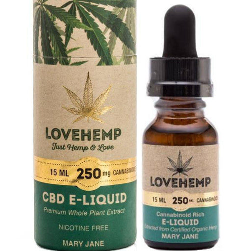 Love Hemp CBD Mary Jane 250mg 15ml Nicotine Free E Liquid