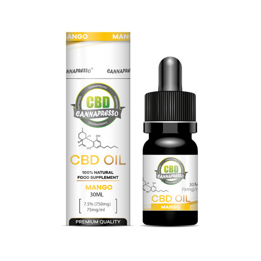 Cannapresso CBD Oil Tincture | Full Spectrum | 30ml | Mango | 750mg 1200mg 2500mg 6000mg