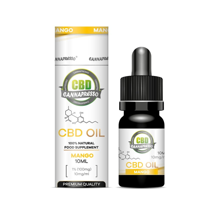 Cannapresso CBD Oil Tincture | Full Spectrum | 10ml | Mango | 100mg 500mg 1000mg 2000mg
