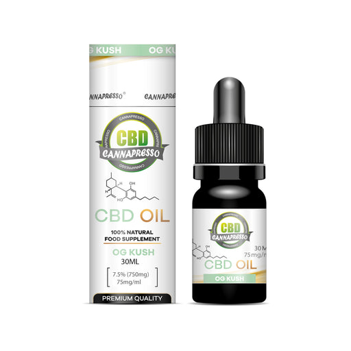 Cannapresso CBD Oil Tincture | Full Spectrum | 30ml | OG Kush | 100mg
