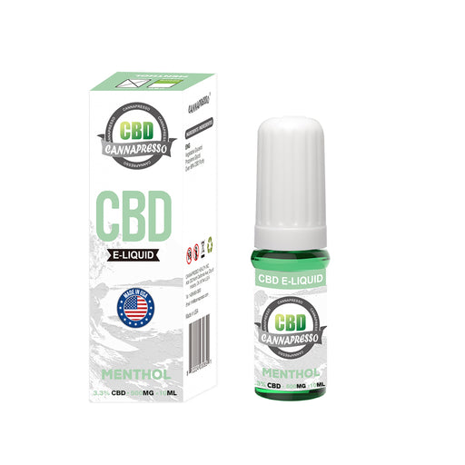 Cannapresso CBD Vape Eliquid | Full Spectrum | 10ml| Menthol | 100mg 300mg 500mg 1000mg