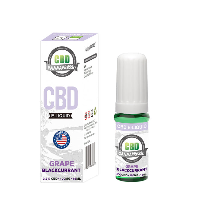 Cannapresso CBD Vape Eliquid | Full Spectrum | 15ml | Blackcurrant | 100mg 300mg 500mg 1000mg