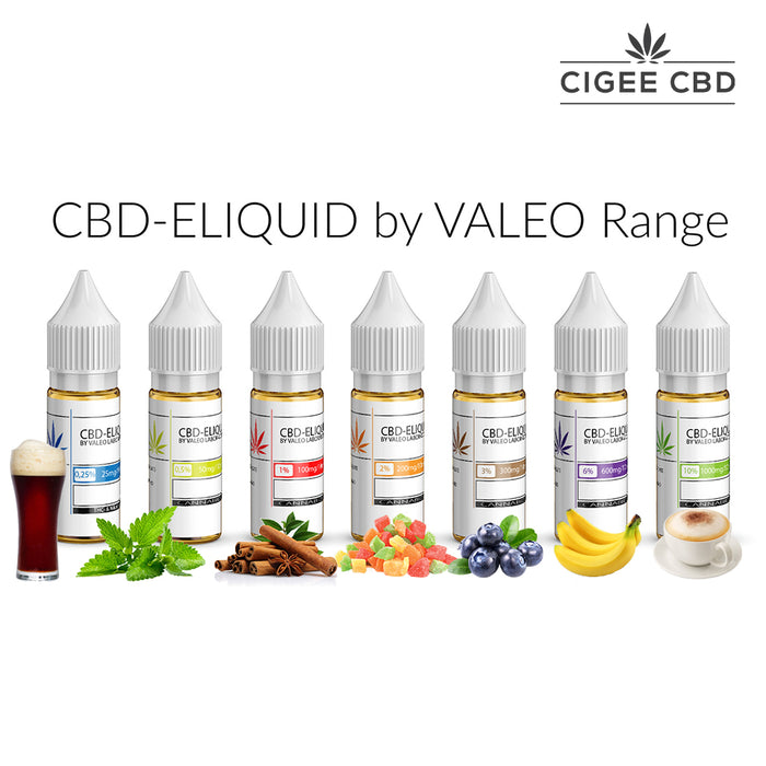 Valeo CBD E Liquid 10ml Strawberry / Mint 250mg 2.5% | 500mg 5% | 750mg 7.5% | 1000mg 10%