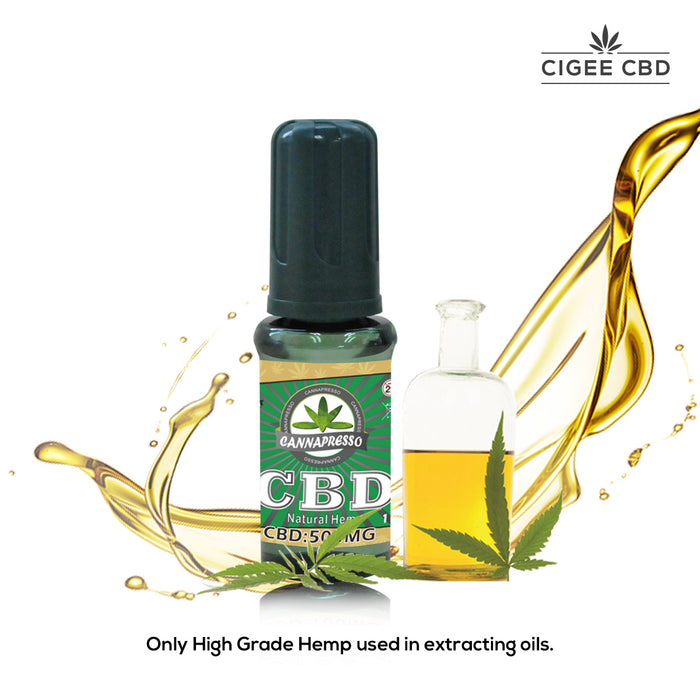 Cannapresso Vape liquid 15ML 500MG Natural Hemp