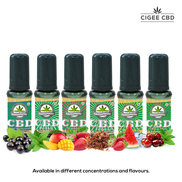 Cannapresso Vape liquid 10ML 500MG Menthol