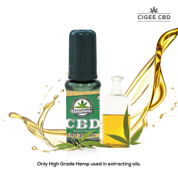 Cannapresso Vape liquid 30ML 300MG Natural Hemp