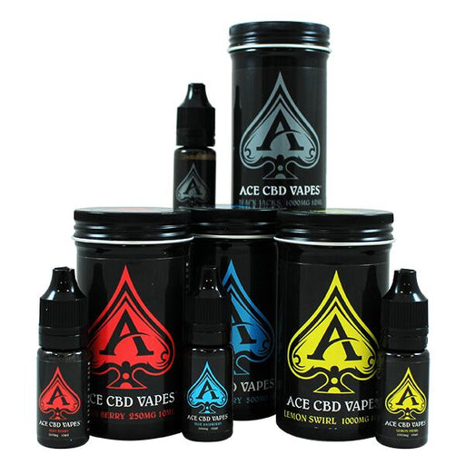 Ace CBD E Liquid Vapes Black Jacks 10ml | 250mg 500mg 1000mg