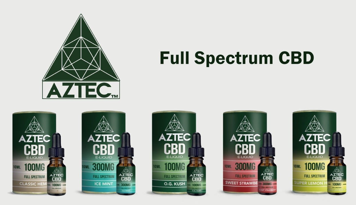 Aztec CBD E Liquid Sweet Strawberry - 300mg 500mg 10ml