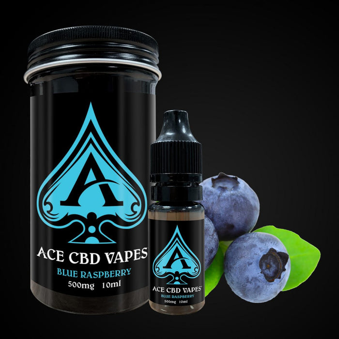 Ace CBD E Liquid Vapes Blue Raspberry 10ml | 250mg 500mg 1000mg