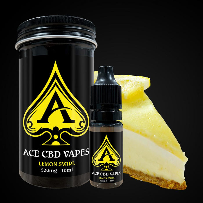 Ace CBD E Liquid Vapes Lemon Swirl 10ml | 250mg 500mg 1000mg