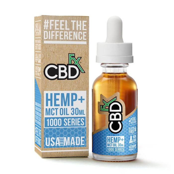 CBD +FX Hemp MCT Oil Tincture 30ml - 500mg 1000mg 1500mg Series