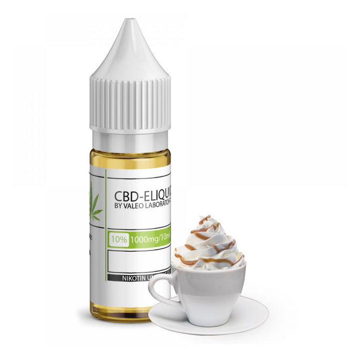 Valeo CBD E Liquid 10ml Cafe Creme 250mg 2.5% | 500mg 5% | 750mg 7.5% | 1000mg 10%