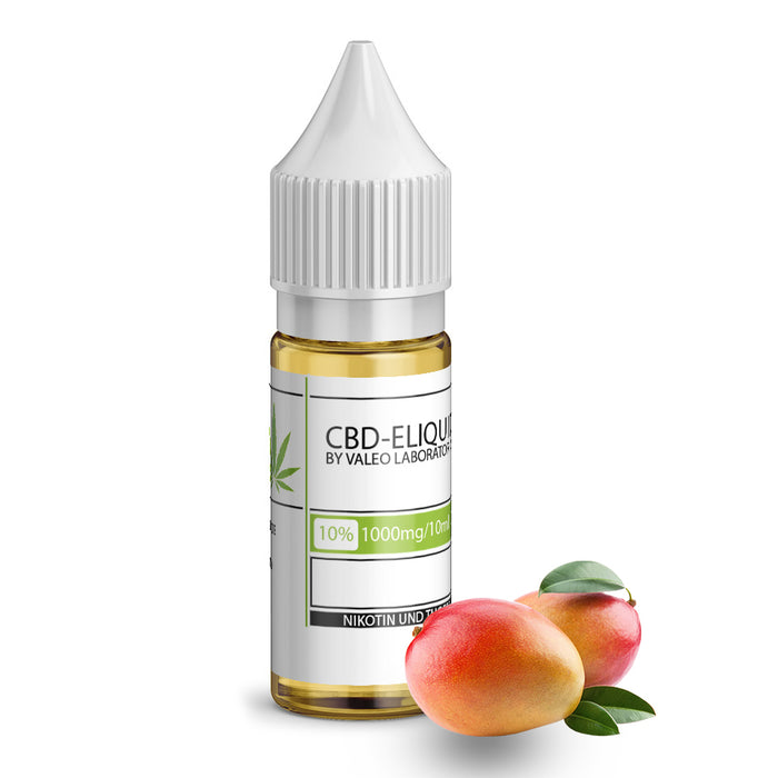 Valeo CBD E Liquid 10ml Mango 250mg 2.5% | 500mg 5% | 750mg 7.5% | 1000mg 10%