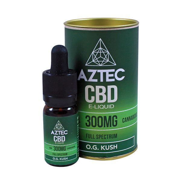 Aztec CBD E Liquid O.G. Kush - 300mg 500mg 10ml