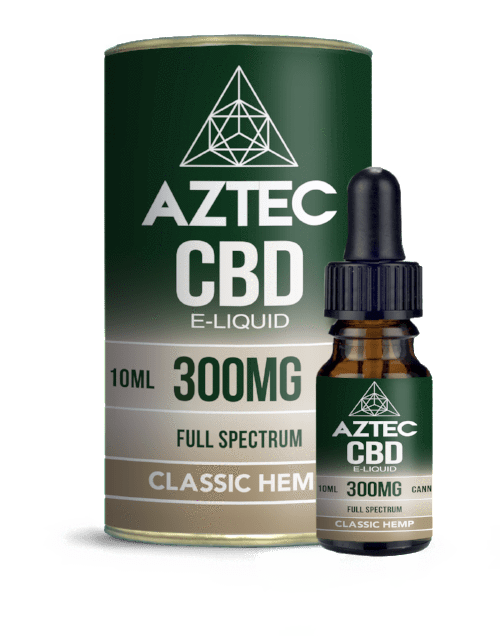 Aztec CBD E Liquid Classic Hemp - 300mg 500mg 10ml