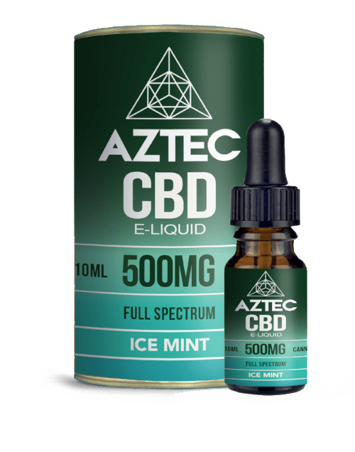 Aztec CBD E Liquid Ice Mint - 300mg 500mg 10ml