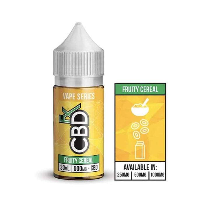 CBD +FX Vape Series Fruity Cereal E liquid Vape Juice 30ml - 250mg 500mg 1000mg