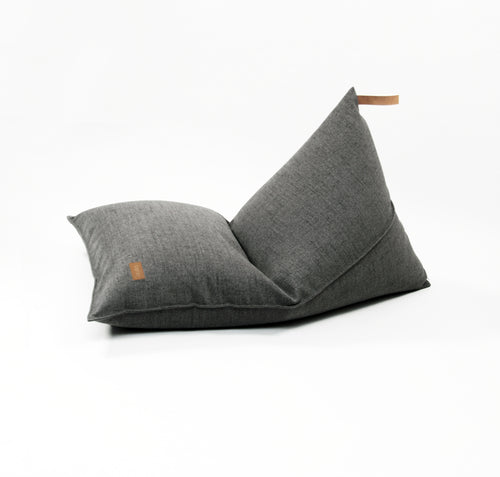 Pouf Dark Grey Melange