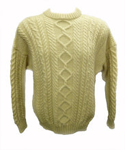 Traditional Aran Jumper, crew neck, made in Guernsey