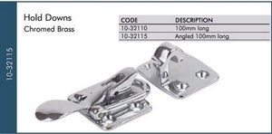 Angled Chrome Hold Down 100mm Long