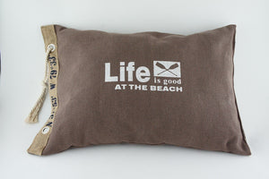 Brown Canvas Cushion