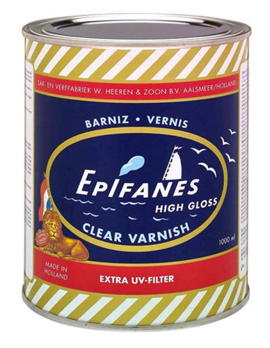 Epifanes Clear Yacht Varnish - top quality varnish for boats and homes