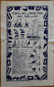 Points Of Sail Sailing Terms Galley Cloth / Fabric Poster / Tea Towel Galley Cloth / Fabric Poster / Tea Towel