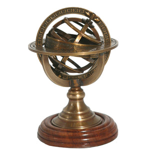 Armillary Sphere Paperweight, elegant ornament, ideal gift