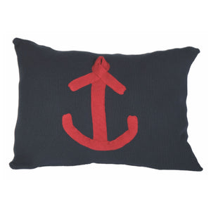Navy with Red Anchor Cushion - by Batela