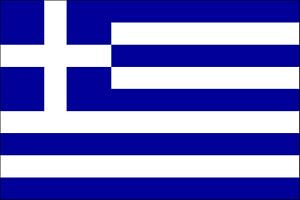 Greece Courtesy Flag 45x30cm Printed