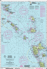 A3 Anguilla to Dominica Passage Chart Imray