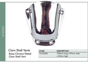 Chrome Plated Clam Shell Vent