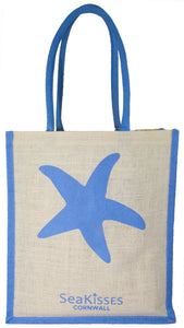 Sea Kisses 'Wild Seas' Jute Bag