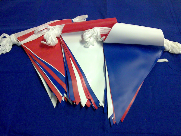 Red, White & Blue PVC Bunting