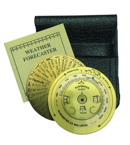 Brass Pocket Weather forecaster