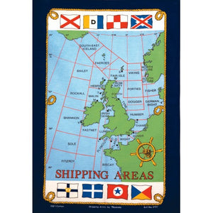 Shipping Areas Tea Towel